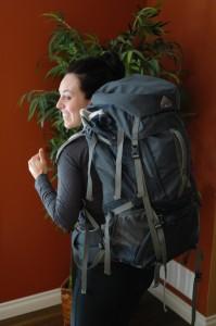 Shawna with Backpack