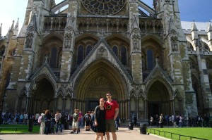 At Westminster Abbey