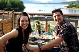 Our first anniversary, in Loch Lomond, Scotland