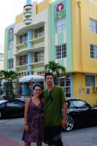 This part of Miami is know for its art deco style buildings...very cool!