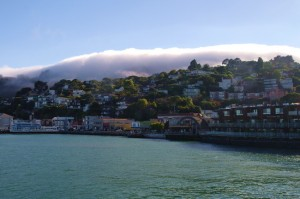 Our view of Sausalito on the ferry ride home