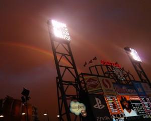 Our lucky night...a double rainbow!