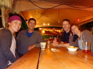 Shawna and I with CSing hosts Keith and Angela! Hangin at a food cart pod!